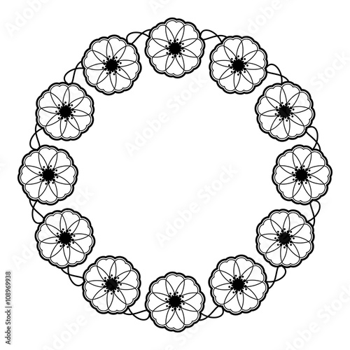 Decorative Shape Clipart Black And White