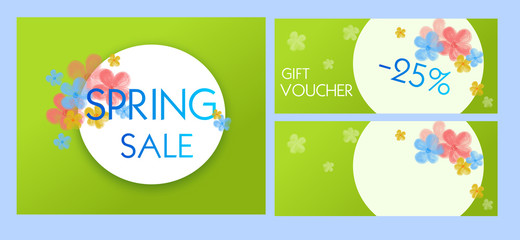 Spring sale and voucher