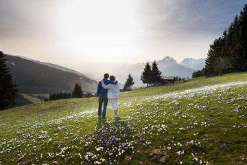 Austria, Tyrol, Couple on alp