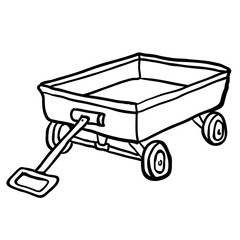 black and white child's toy cart