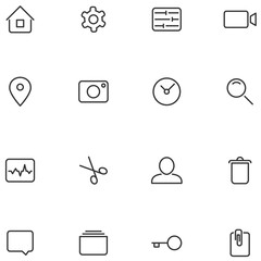 Vector icons and buttons for your design.