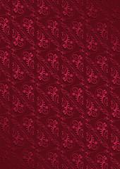 Claret background with openwork vintage seamless crimson pattern