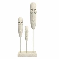 Sculpture Faces. 3d illustration