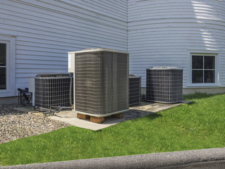 Air conditioning heat pumps used to heat and air condition a church