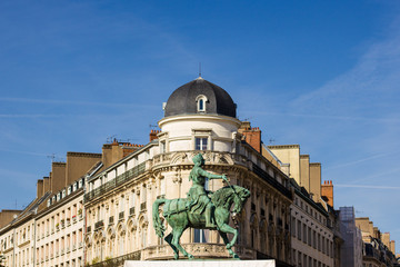 Monument of Jeanne d'Arc in place Martroi in Orleans, France
