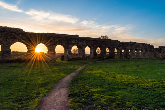 "Acqueduts park (in italian: ""Parco degli Acquedotti"") - A public park in Rome, Italy, in the Appian Way Regional Park"