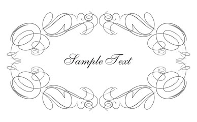 Decorative vector frame swirls for your text