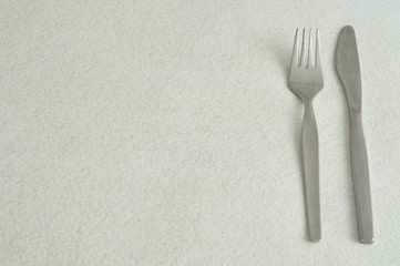 Cutlery displayed on a white background