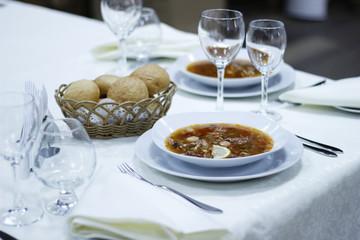 Soup Solyanka with lemon