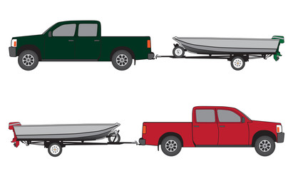 Boat trailer with pickup