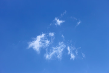 Lonely group of white clouds