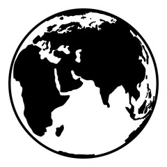 Earth planet globe web and mobile icon in flat design