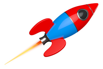 Childs Toy Rocket. 3d Rendering