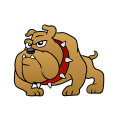 brown bulldog vector illustration