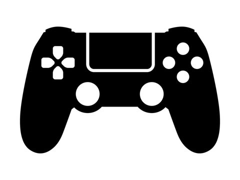 Video game controller / gamepad flat icon for apps and websites