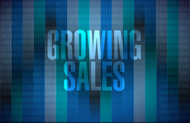 growing sales binary background sign concept