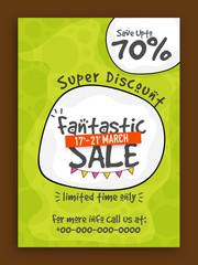 Fantastic Sale Flyer, Poster or Banner design.