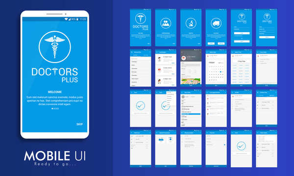 UI, UX and GUI for Medical Mobile Apps.