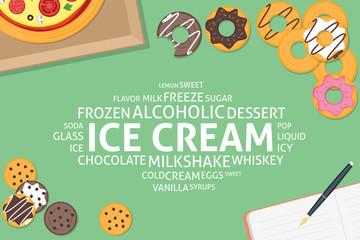 vector ice cream concept,template