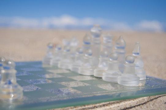 chess on the beach