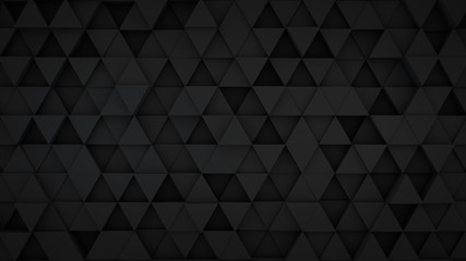 Black triangles extruded surface 3D render