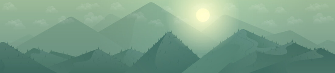 Mountains background Day