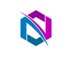 Letter N and S Logo