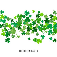 St Patricks Day background. illustration