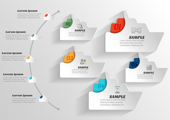 Infographic banners Templates.Vector boat and ship design elemen