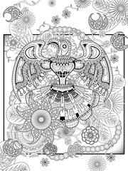 totem coloring page