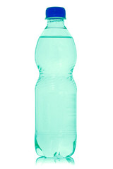 Mineral water bottle isolated.