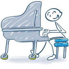 Strichmännchen am Piano