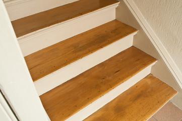 détail escalier en bois