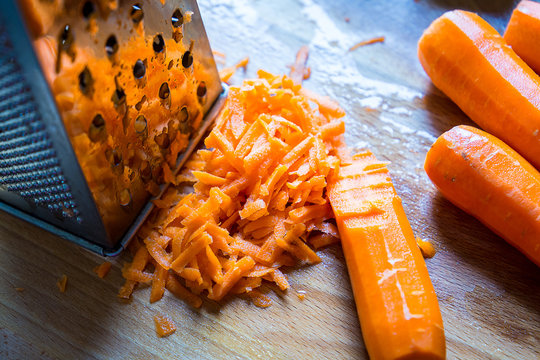 Grated Carrot, Close-up