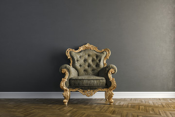 3d vintage arm chair interior render Fototapete
