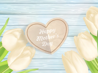 Mothers day gift background. EPS 10