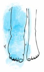 Wasser im Bein