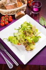 green vegetarian salad