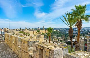 The ramparts of Jerusalem