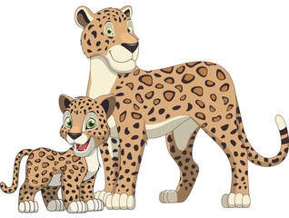 Lepard adult and cub