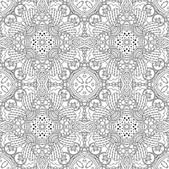 Black and white seamless pattern psychedelic.