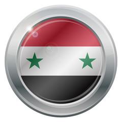 Syria Flag Silver Icon