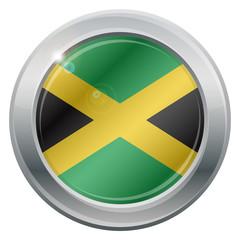 Jamaica Flag Silver Icon