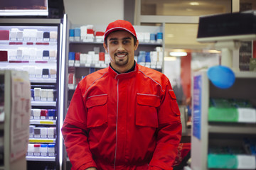 Male Worker At Store