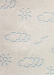White toilet paper.Close-up view of ornate toilet paper texture background.