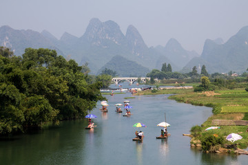 Busy tourism business in quiet Yangshuo.