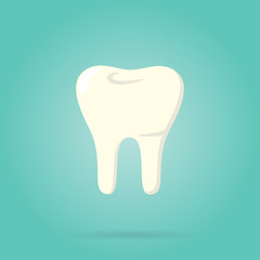 Tooth logo isolated, vector illustration. Human tooth.