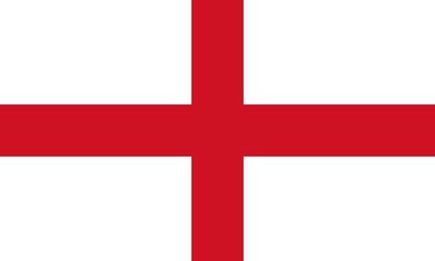 England Flag,  English flag, Flag of England standard proportion in color mode RGB
