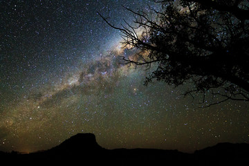 Beautiful image of the milky way seen from Isalo, Madagascar