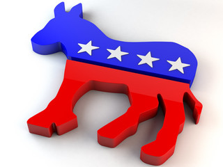 Democratic Party Donkey Symbol 3D Illustration